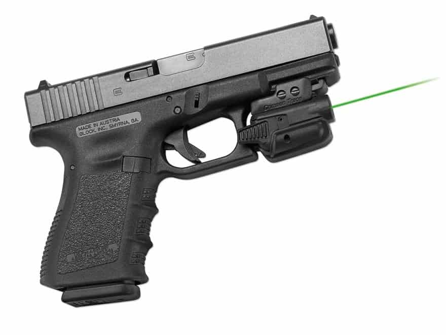 universal laser mounted to a glock 19