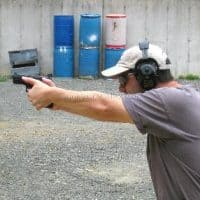 Practicing at the range